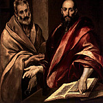 El Greco. Apostles Peter and Paul, part 13 Hermitage