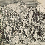 part 13 Hermitage - Schongauer, Martin. Large carrying the cross