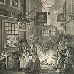 Hogarth, William. Night. Page 4, part 13 Hermitage