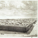 Chernetsov, Grigory. Part of the panorama of Palace Square, taken from the forests of the Alexander Column, part 13 Hermitage