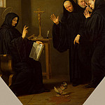 Shampen, Philippe de. A scene from the life of St. Benedict of Nursia, part 13 Hermitage