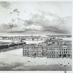 Chernetsov, Grigory. Part of the panorama of Palace Square, taken from the forests of the Alexander Column , part 13 Hermitage