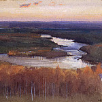 Järnefelt Eero Nicolai. River landscape in autumn, part 13 Hermitage