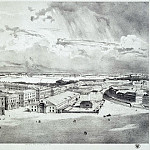 part 13 Hermitage - Chernetsov, Grigory. Part of the panorama of Palace Square, taken from the forests of the Alexander Column (3)