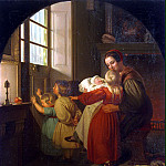 part 13 Hermitage - Hildebrandt, Ferdinand Theodor. Children in anticipation of a Christmas tree