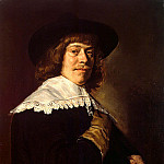 Hals, Frans. Portrait of a young man with a glove in his hand, part 13 Hermitage
