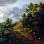 adjust it, Lucas van. Landscape with hunters, part 13 Hermitage