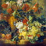 Huysum, Jan van. Flowers and fruits, Jan Van Huysum
