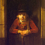 Hogstraten, Samuel Diercks van. The boy in the window, part 13 Hermitage