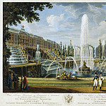 Cesky, Ivan Vasilyevich. View Grand Cascade Fountain of Samson and the Grand Palace in Peterhof, part 13 Hermitage