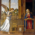 Cima da Conegliano, Giovanni Battista. Annunciation, part 13 Hermitage