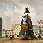 part 13 Hermitage - Schultz, Karl. Kind of a monument to Nicholas I on St. Isaac Square