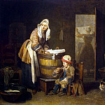 Chardin, Jean-Baptiste-Simeon. Laundress, part 13 Hermitage