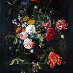 Heem, Jan De Davids. Flowers in a Vase, part 13 Hermitage