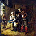 Hooch, Pieter de. The maid and soldier, Pieter de Hooch
