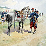 part 13 Hermitage - Schaeffer, E.. French soldiers, who holds the reins of the horse