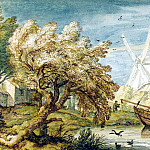 Everdingen, Allart van. Landscape with boat, part 13 Hermitage