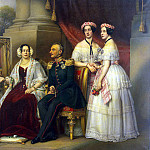 part 13 Hermitage - Shtiler, Josef Carl. Group portrait of the family of the Duke of Saxe-Josef Altenburgskogo