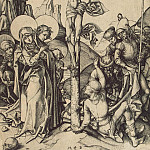 Schongauer, Martin. Crucifixion with the soldiers, sharing Christs garment, part 13 Hermitage
