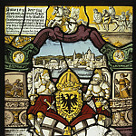 Shtilhart, Caspar. Stained glass window depicting the town of Constanta, part 13 Hermitage
