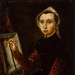 Hemessen, Catharine van. Self-portrait, part 13 Hermitage