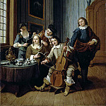 Horemans, Jan Josef the Younger. Singing lesson, part 13 Hermitage