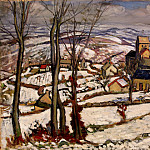 part 13 Hermitage - Charlot, Louis. The village under snow in Morvane