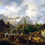 Hess, Peter von. Morning in Partenkirchen, Peter Von Hess