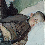 Enkel, Knut Magnus. Mother beside the sleeping child, part 13 Hermitage
