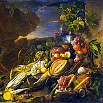 part 13 Hermitage - Heem, Jan De Davids. The fruit and a vase with flowers