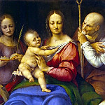 Cesare da Sesto. The Holy Family with St.. Catherine, part 13 Hermitage