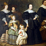 Vos, Cornelis de – Portrait of the artist and his wife Suzanne Kok and children, part 03 Hermitage