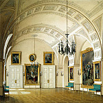 Hau, Eduard Petrovich – Types of rooms of the Winter Palace. Small Field Marshals Hall, part 03 Hermitage