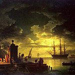 Vernet, Claude Joseph – Kind of around Citta Nuova in Illyria in the moonlight, part 03 Hermitage