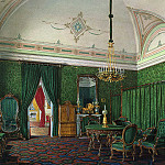 Hau, Eduard Petrovich – Types of rooms of the Winter Palace. Third spare half. Bedroom, part 03 Hermitage