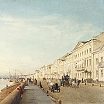 English Embankment in St. Petersburg, Eduard Gaertner