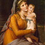 Vigee-Lebrun, Elisabeth-Louise – Portrait of Countess Anna Sergeyevna Stroganova son, part 03 Hermitage