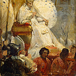 Ceremonial removal Pope Pius VIII in the Cathedral of St.. Peter 1829, Horace Vernet