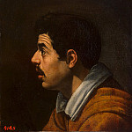 Velazquez, Diego – Mens head in profile, part 03 Hermitage