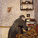 Vuillard, Jean Edouard – Old Woman in Interior, part 03 Hermitage