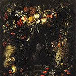 part 03 Hermitage - Gillemans, Jan Pauvel Senior - Bust of Madonna in the garland of fruit