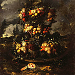part 03 Hermitage - Gillemans, Jan Pauvel Younger - fountain, decorated with fruit