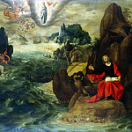 Verhaht, Tobias Konya, Gilles – Landscape with St John the Evangelist, writing a book Apocalypse in Patmos, part 03 Hermitage