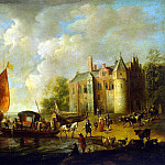 Velde, Peter van de – Castle on the banks of the river, part 03 Hermitage