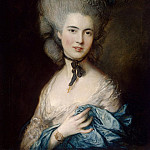 Gainsborough, Thomas – Portrait of a Lady in blue, part 03 Hermitage