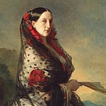 Winterhalter, Francois Xavier – Portrait of Grand Duchess Maria Nikolaevna, part 03 Hermitage