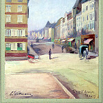 Wittmann, E. – View of the Rue Saint-Georges in Nancy, part 03 Hermitage