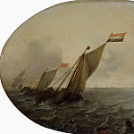 Vliger, Simon de – Ships in windy weather, part 03 Hermitage