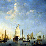 Velde, Willem van Junior – Vessels at anchor, part 03 Hermitage