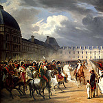 A disabled person who has filed a petition to Napoleon at the Guards parade in front of the Tuileries Palace in Paris, Horace Vernet